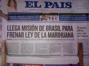 Capa do El País (Uruguai) de hoje, 4/11/13.
